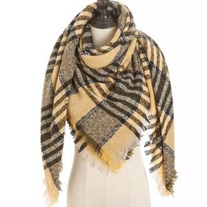 New Yellow Triangle Blanket Cashmere Scarf